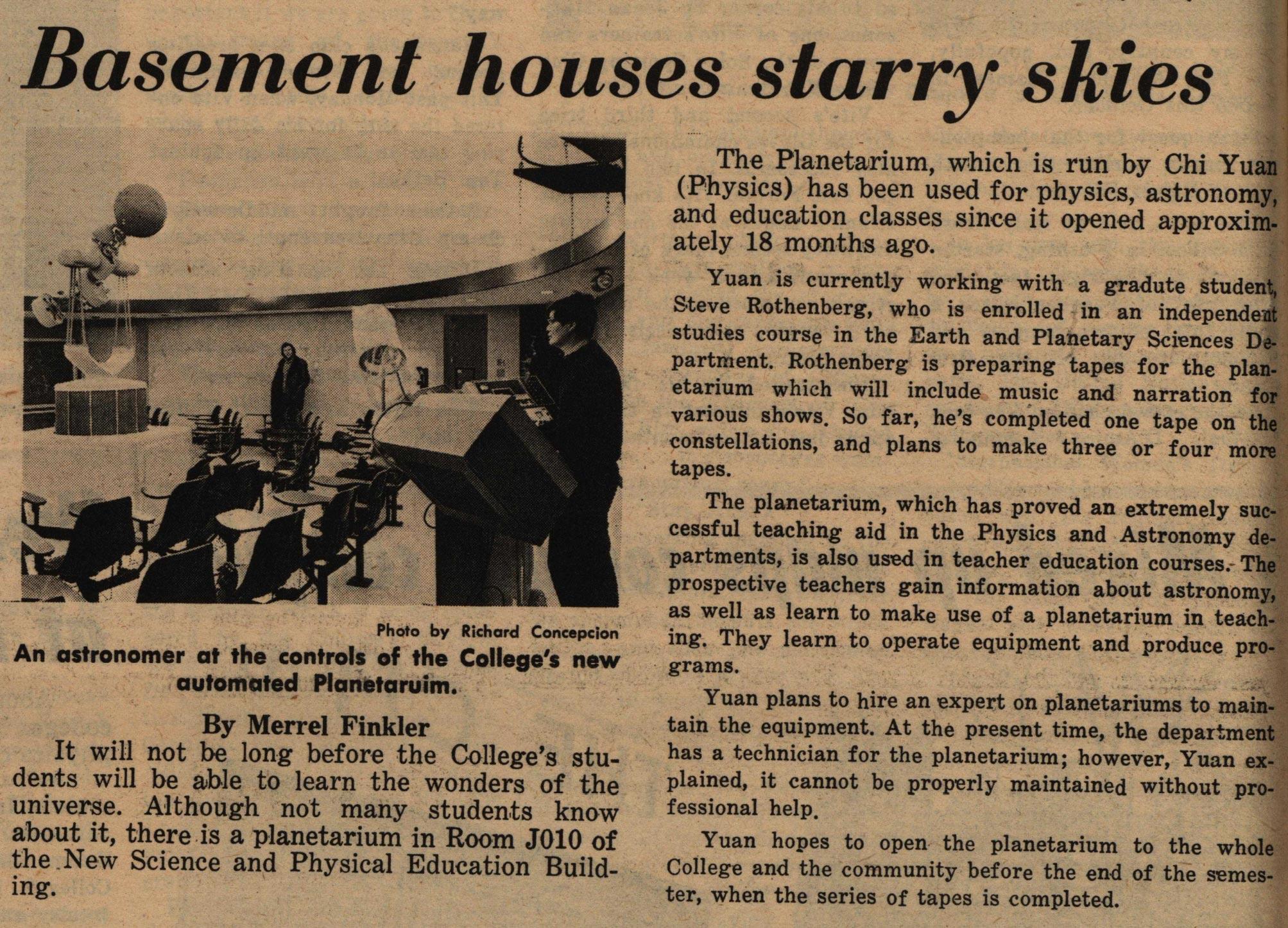 ccny planetarium campus 1975